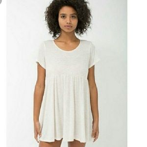 American Apparel Babydoll Dress in Oatmeal/Sand